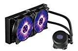 Cooler Master MasterLiquid ML240L RGB Refrigeración a Liquido CPU - Efectos de Iluminación Personalizados, Bomba de Disipación Dual y Doble Ventilador de Aire de 120mm