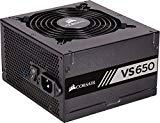 Corsair CP-9020172-EU VS650 - Fuente de alimentación (650 watts, PFC activo, 80 PLUS), Negro