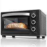 Cecotec Horno Sobremesa Bake&Toast 550. 1500 W, Capacidad de 23 Litros, 3 Modos de calor, No Convección, Temperatura hasta 230ºC, Luz interior, Puerta doble cristal, Temporizador