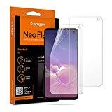 Spigen, 2 Pack, Protector Pantalla Samsung Galaxy s10, NeoFlex, No Vidrio Templado, Aplicación Húmeda, Compatible con Fundas, Sin Burbujas, Anti-Arañazos, Anti-Huellas Dartilares (605FL25996)