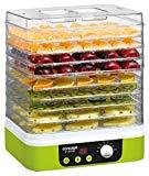 Concept Electrodomésticos SO1060 Deshidratador de alimentos, temporizador, con 9 bandejas rectangulares, temperatura ajustable de 35-70 grados, 1200 W, 46 Decibelios, Plástico, Verde y blanco