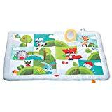 Tiny Love Super Mat Alfombra bebé alcochada, Gimnasio Manta de juegos gigante 100 x 150 cm, Alfombra gateo bebé con 8 actividades para el desarrollo, Meadow Days