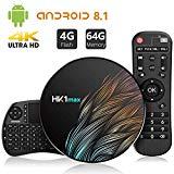 Android 9.0 TV Box?4G+64G?con Mini Teclado inalámbirco con touchpad Quad-Core 64bit Wi-Fi-Dual 5G/2.4G,BT 4.1, 4K*2K UHD H.265, USB 3.0 Smart TV Box