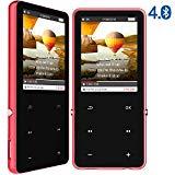 Reproductor MP3 Bluetooth 4.0, 16GB 2.4 Inch Pantalla TFT Reproductor Música MP3, Portátiles Reproductor MP4 Bluetooth Player con Radio FM, Extención hasta 128 GB, Botónes Táctiles(Rojo)