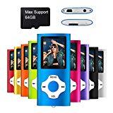 Mymahdi Reproductor portátil MP3 / MP4, Azul Oscuro con Pantalla de 1,8 Pulgadas de LCD y Ranura para Tarjetas Memory Card, Tarjeta de 128 GB de Memory Card de Alta compatibilidad TF