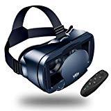?Nuevo? Gafas VR de Realidad Virtual,3D VR Gafas con Remoto Controlador, para Juegos Visión Panorámico Immersivo para iPhon X/7/ 7plus /6s 6/Plus, Galaxy s8/ s7 con Pantalla de 5,0 a 7,0 Pulgadas