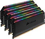 Corsair Dominator Platinum RGB Kit de Memoria 32 GB DDR4 3600 MHz C18, con Iluminación LED RGB, 4 x 8 GB, Negro