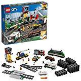 LEGO60198CityTrendemercancías,JuguetedeConstrucciónconMotoraControlRemotoBluetoothcon3VagonesyMiniFiguras