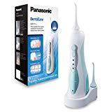Panasonic EW1311G845 - Irrigador bucal eléctrico portátil de viaje con modo Air In, recargable, 3 modos de limpieza, 1.400 impulsos por minuto, 4x boquillas incluidas, color verde