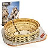 CubicFun National Geographic Puzzle 3D Coliseo Romano Rompecabezas 3D Modelo Kit de Construcción con Folleto para Adultos Niños, 131 Piezas