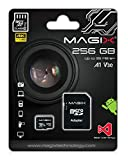 Micro SD Card 256GB Magix 4K Series Class10 V30 + SD Adapter up to 95MB/S