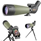 Gosky 20-60x80 Telescopio Terrestre con trípode y adaptador para teléfono inteligente - El alcance impermeable más nuevo para tiro al blanco Caza Observación de aves Paisaje de vida silvestre
