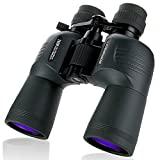 BORWOLF 10-30X50 Prismáticos High Magnification HD zoom de largo alcance 10X-30X Magnification Hunting Telescope Binoculares de gran angular