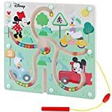 WOOMAX - Juegos de laberintos Juguete laberinto Cuentas madera y formas Abaco infantil para niños Juguete bebes 1 año Juguetes Montessori Motricidad Fina Regalos educativos niños 1 año