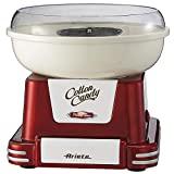 Ariete 2971 Máquina de Algodón de Azúcar Party Time 500 W, Diseño Retro Incluye 2 Conos de Plástico y una Cuchara de Medicón, Desmonstable, Rojo Oscuro