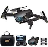 Goolsky Drone GD89 Pro RC con Cámara 4K Modo Flujo óptico Cámara Dual Automático Evitar obstáculo Sensor de Gravedad Vuelo en Pista, Modo sin Cabeza 3D Flip RC Quadcopter para Adultos Niños 3 Batería