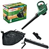 Bosch aspirador y soplador de hojas eléctrico UniversalGardenTidy 3000 (3000W, bolsa colectora de 50l, velocidad variable, para soplar, aspirar y triturar las hojas, en caja)
