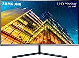 Samsung LU32R592CWRXEN - Monitor Curvo sin marcos de 32'' 4K, 3840x2160, LED, UHD, 60Hz, 4ms,1500R, 2500:1, ajuste de inclinación, Gris Oscuro