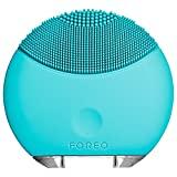 FOREO LUNA Mini - Cepillo exfoliante facial con limpiador sónico eléctrico que se recarga con USB, Turquesa (Turquoise Blue)