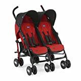 Chicco Echo Twin Silla de paseo gemelar, ligera y compacta, color rojo