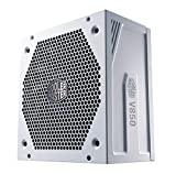 Cooler Master V850 Gold V2 PSU, Enchufe EU: 850W, 80 PLUS Gold, Modular Total, Fuente de Alimentación ATX, Ventilador FDB 135mm, Modo Semi-Fanless, 10 Años Garantía, Cables PCI-e 16AWG, Edición Blanca