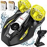 SYMA Barco teledirigido para piscinas, lagos de velocidad, barco con mando a distancia de 2,4 GHz, juguete y regalo para niños a partir de 8 años